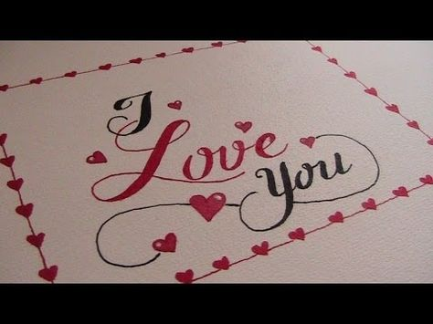 write cursive fancy letters - how to write I love you - YouTube