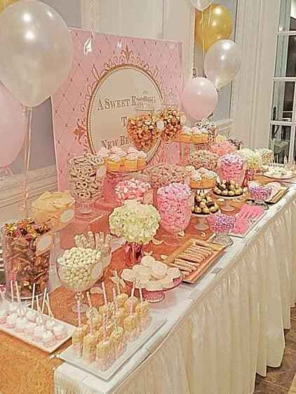 Pink And Gold Baby Shower Ideas Baby Shower Candy Table Bridal Shower Decorations Pink Diy Wedding Buffet