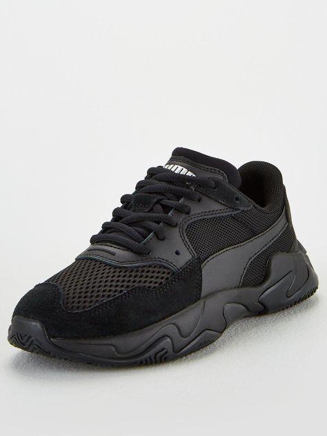 Puma Storm Origin Junior Trainers - Black in Black/Black ...