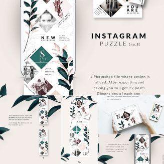 Instagram Puzzle Template Instagram Template Free Instagram