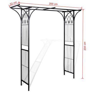 Vidaxl Arche De Jardin 200 X 52 X 204 Cm 4 4 En 2020 Arche Jardin Jardins Arche