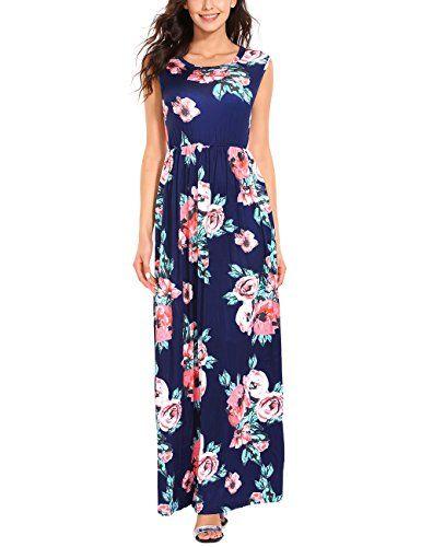 on sale 532c3 7ec14 ISASSY Vestiti Donna Eleganti Estivo Lungo Vestito Senza ...