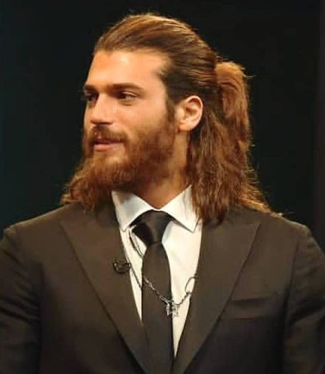 He Needs A Pompom Ponytail Tie Long Hair Styles Men Hair And Beard Styles Long Hair Styles