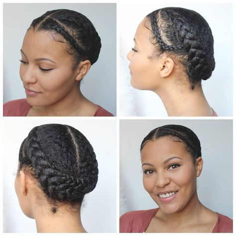 Another Week Another Protective Style After Washing My Hair I Used The Tginatural Hair Ma Braids For Short Hair Transitioning Hairstyles Natural Hair Styles