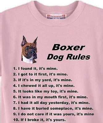 Boxer Dog Rules