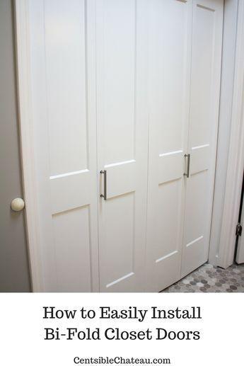 How To Easily Install Bi Fold Closet Doors In Your Closet Bifold