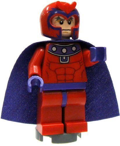LEGO NEW RED MAGNETO HELMET HAT SUPER HERO PART