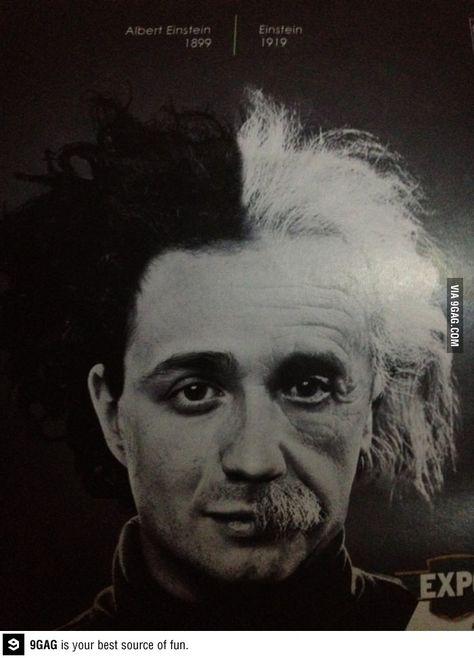 From 1899 to 1919. A genius develops.  Einstein.
