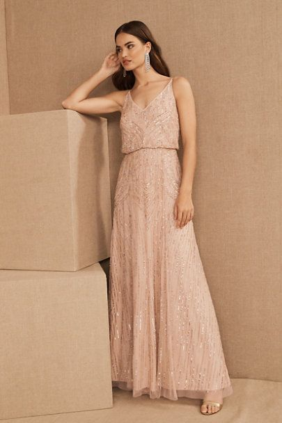 Fidelia Beaded Maxi Dress In 2020 Beaded Maxi Dress Bhldn Bridesmaid Dresses Dresses