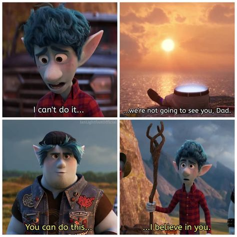 "Ian Lightfoot 🌙 on Instagram: ""⠀ Another new scene from the new Onward second trailer! #PixarOnward #IanLightfoot #BarleyLightfoot"""