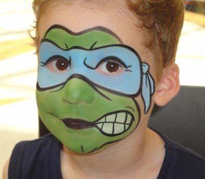 ninja turtles face paint - Google Search