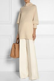 The RowMandel oversized cashmere and silk-blend turtleneck sweater