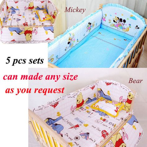 b52b56e44 Find More Bedding Sets Information about 5 PCS set Baby bedding set cartoon  crib kit 100% cotton bumper suit bedclothes include pillow bumpers mattress  baby ...