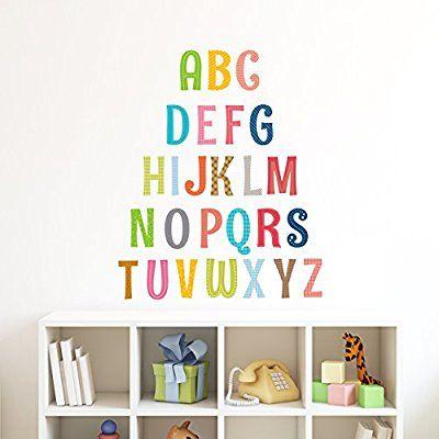 Amazon Com Decowall Da 1701a Uppercase Alphabet Abc Letter Kids