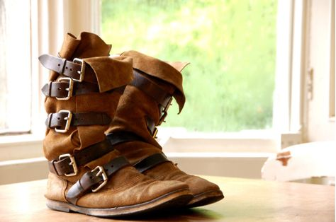 da4c2ba21a8 vivienne westwood pirate boots marron daim
