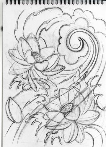 Japanese Lotus Tattoo Designs Lotus Tattoo Design Flower Tattoo Drawings Line Drawing Tattoos