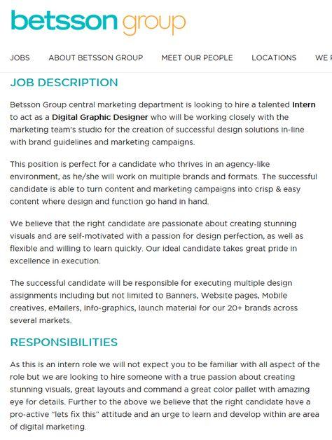 Art/Creative Director Vacancy - FrontLoop Media2 BADIE - UK Trip - intern job description