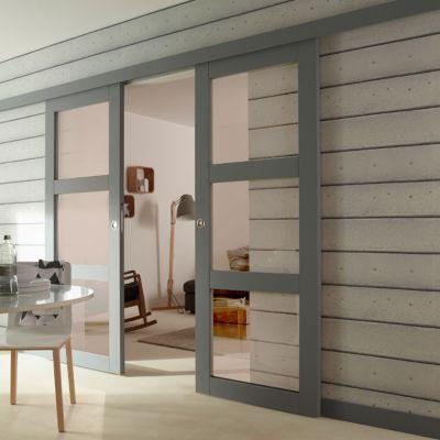 Kit Verre Transparent Pour Porte Moram 83cm Porte Coulissante Porte Coulissante Galandage Et Stickers Pour Fenetre