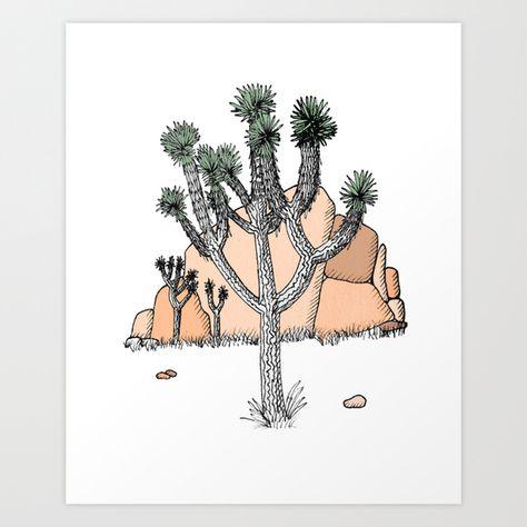 Joshua Tree Art Print by Mrs. Ciccoricco