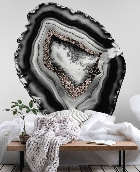 Buy Agate Rose Gold Glitter 1 wall mural - Free US shipping at Happywall.com