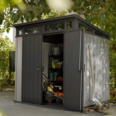 Abri En Resine Brossee Monopente Brossium 4 7m Plancher Keter En 2019 Abris De Jardin Outdoor Structures Et Outdoor