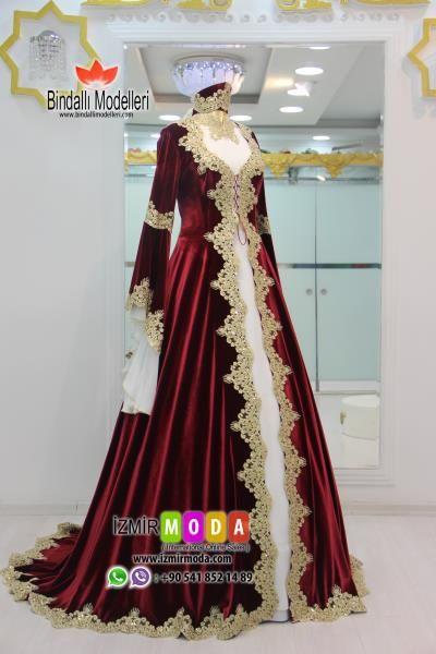 Tesettur Kaftan Kadife T3502 The Dress Arap Elbisesi Elbise Dugun