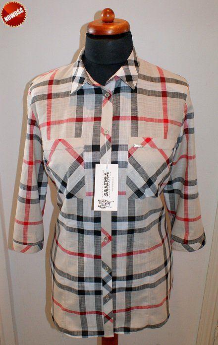 Koszula Damska Plus Size Xxl Jak Burberry Koszula Odziez Damska Plus Size Xxl Duze Rozmiary Sklep Internet Women S Plaid Shirt Mens Tops Womens Plaid