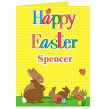 Personalised easter chicks chocolate bar from personalised gifts a range of personalised easter cards for children to compliment our range of gifts all with free delivery negle Choice Image