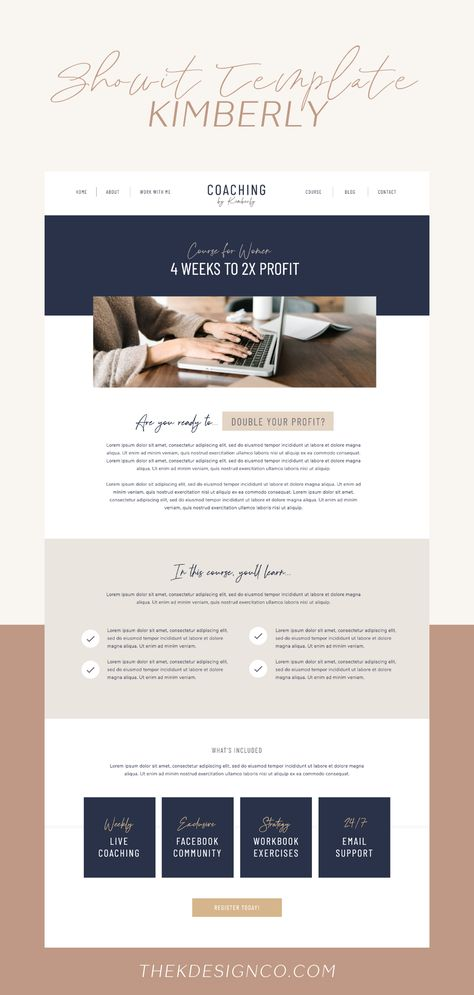 Kimberly - ShowIt 5 Template - K Design Co.
