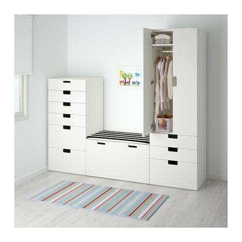 STUVA Storage combination White white 210x50x192 cm Hanger - küchenschrank mit schubladen