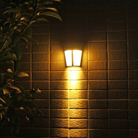 2 1pcs Solar Power Led Lights Outdoor Waterproof Wall Lamp Eeekit Wall Mounted Solar Lights Solar Night Security Lamps For Front Door Outside Wall Back Yard Patio Lamp Solar Led Lights Outdoor Solar powered outdoor wall lighting