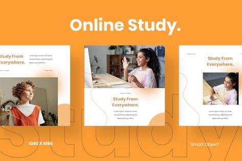 Online Study - Education Instagram Post Template Social Media