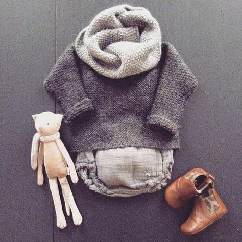 Pull point mousse Tocoto Vintage et bloomer dentelle - mode bébé / baby fashion l www.little-home.fr