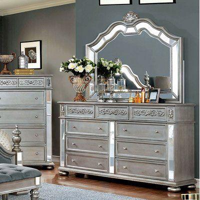 Rosdorf Park Gwendolyn 9 Drawer Dresser With Mirror Dresser With Mirror 9 Drawer Dresser Furniture