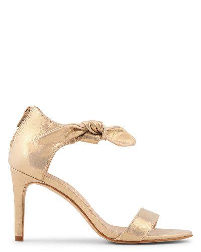 Chaussures dorées minelli. Talons mi hauts #chaussures