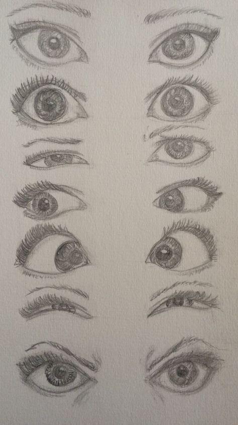 Bleistiftzeichnung Schritt für Schritt Eye Draws (realistisch und farbenfroh) - Alaskacrochet.com