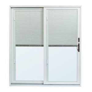 70 1 2 In X 79 1 2 In 200 Series Left Hand Perma Shield Gliding Patio Door With Built In Blinds Patio Doors Andersen Sliding Patio Doors Sliding Patio Doors