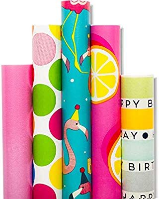 Gift Wrapping Paper 5 Roll 30inch X 10 Feet Per Roll Design For Birthday Mother Day Valentine S Day Wedding Baby Shower Christmas Sloud Gull Rainbow Health