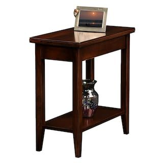 Kohl S Leick Furniture Chocolate Cherry Finish Narrow End Table 12 W X 24 L X 24 H 150 Nice It Is Nar Chair Side Table End Tables End Tables With Storage