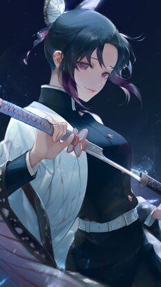 Shinobu Kocho Katana Kimetsu No Yaiba 4k Hd Mobile And