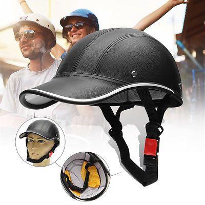 Motorcycle Bike Scooter Half Helmet Open Face Cruiser Baseball Hat Skull Cap Us 23 89 Safety Helmet Bicycle Helmet Bike Safety