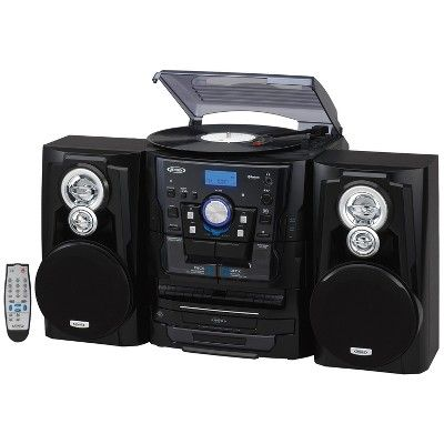 Aux Bluetooth Jensen Portable Bluetooth Music System with CD Player FM radio