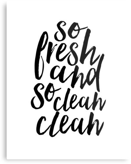 so fresh so clean bathroom  Wall Print Typography  Wall Art black and white