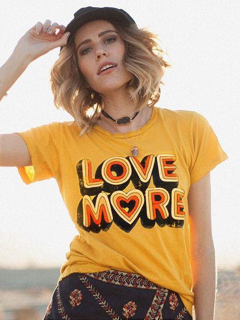Dresswel Women LOVE MORE 3D Printed Valentine`s Day T-shirt Tops