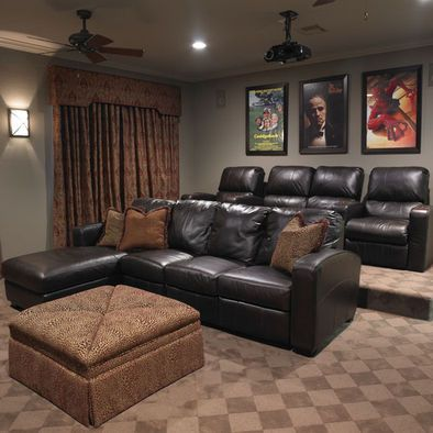 home media room designs. Home Theater Media Room chair setup  we just need to build a platform raise the area behind first couch 403 best FAMILY ENTERTAINMENT AREA images on Pinterest