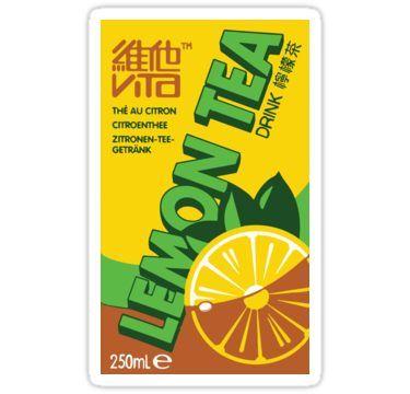 Vita Lemon Tea Sticker By Coffeesoo Lemon Tea Tea Box