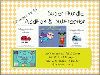 Huge addition and subtraction bundle- great activities