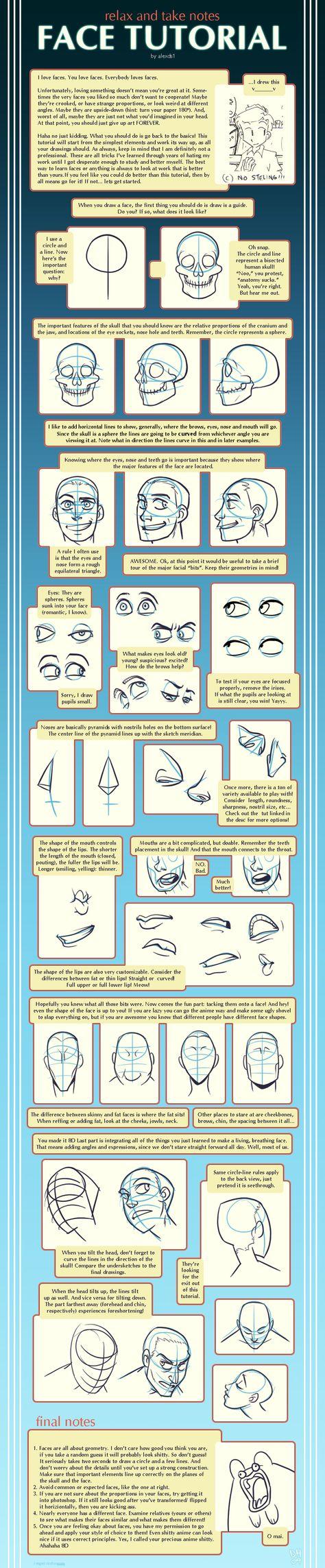 Face Tutorial by alexds1.deviantart.com on @deviantART