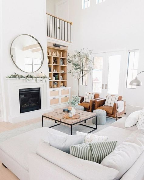 "#LTKhome on Instagram: ""Recharge for the week with a cozy night in a la @designlovesdetail's farmhouse chic meets modern living room look 
