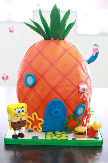 Sponge Bob Cake this would be challenging
